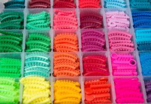 colorful orthodontic bands